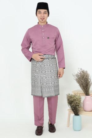 Baju Melayu Sakura Dusty Purple