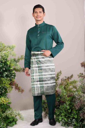 Baju Melayu Sakura Emerald Green