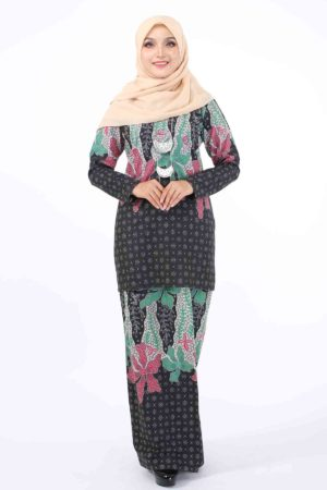Kurung Batik Sofia Eksklusif Green and Red