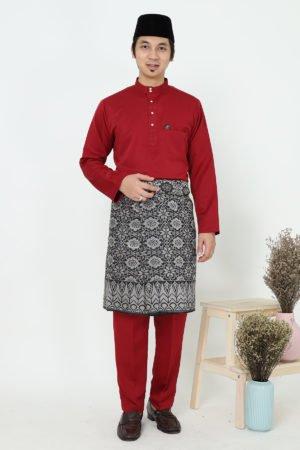 Baju Melayu Sakura Maroon