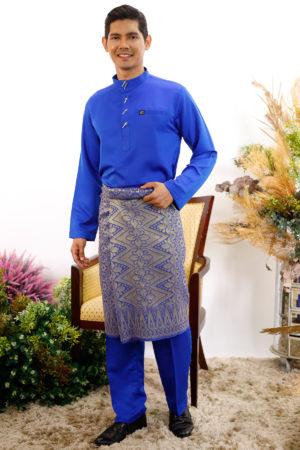 Baju Melayu Sakura Royal Blue