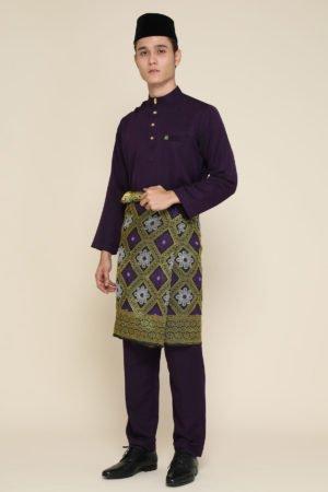 Baju Melayu Dark Purple