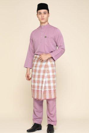 Baju Melayu Abaya Dusty Purple