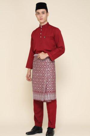 Baju Melayu Maroon