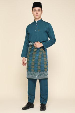 Baju Melayu Teal Green