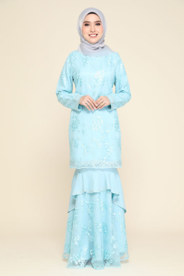 Dress Careena Aqua Blue (no cape)