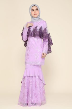 Dress Careena Dusty Purple (cape)