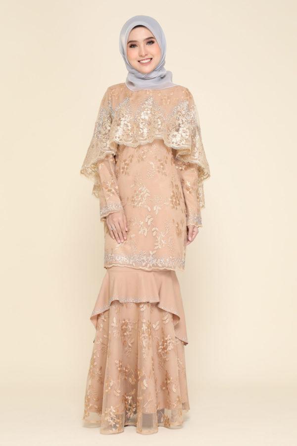 Dress Careena Mocha (cape)