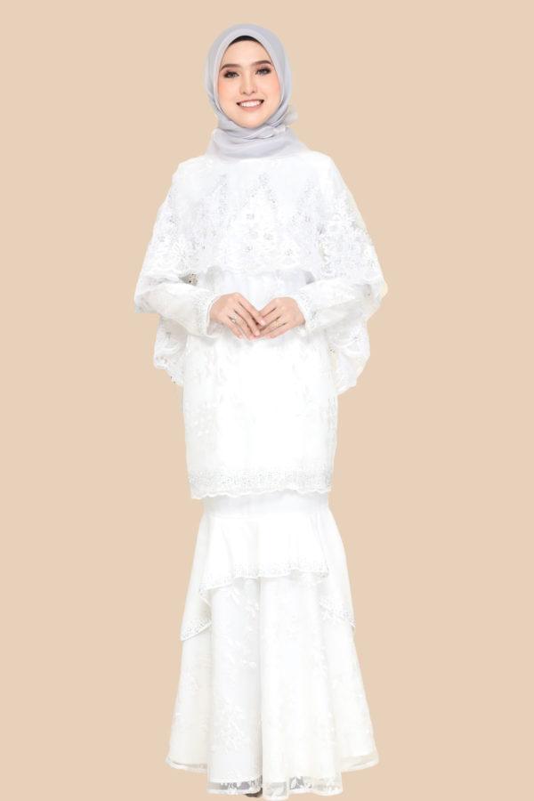 Dress Careena White (cape)