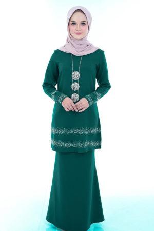 Kurung Cempaka Emerald Green