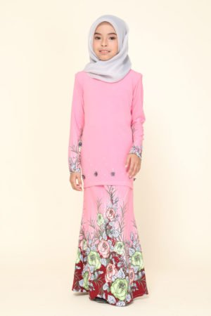 Kurung Flora Kids Dusty Pink