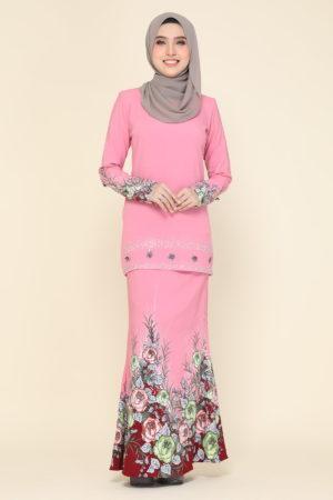 Kurung Flora Pink