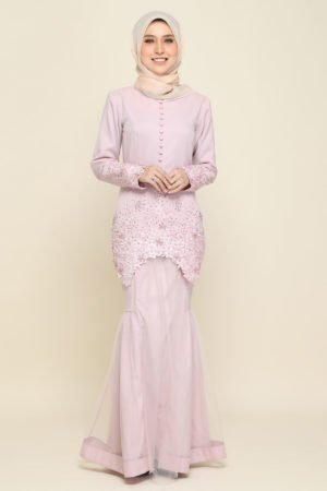 Kurung Heleena Dusty Purple