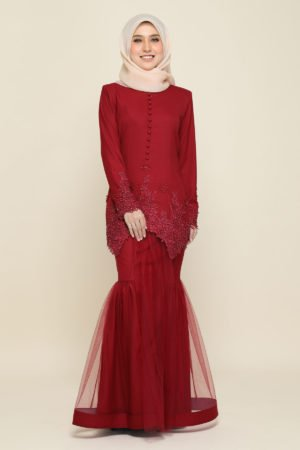 Dress Heleena Maroon