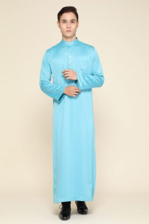 Jubah Mecca Baby Blue