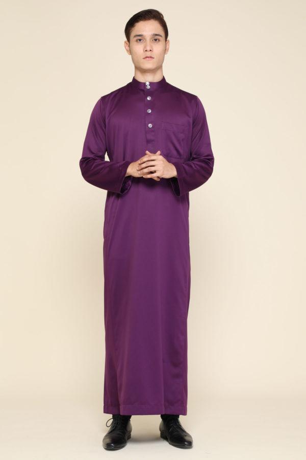 Jubah Mecca Dark Purple