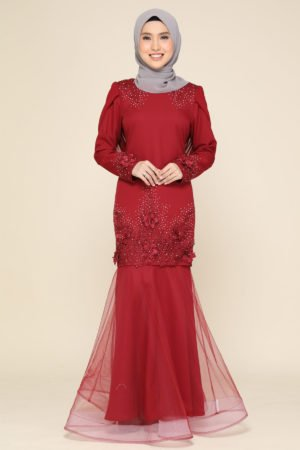 Dress Lashira Maroon