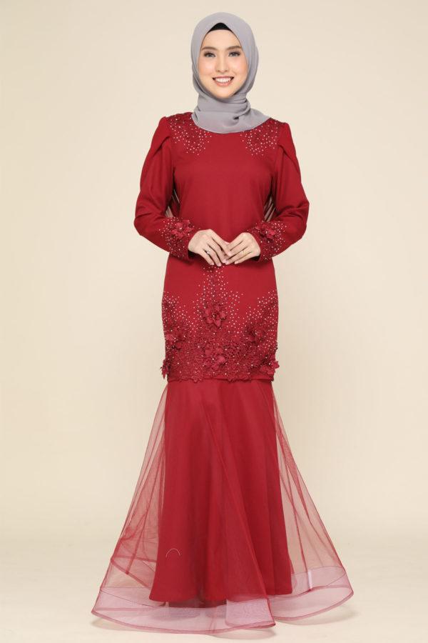 Dress Lashira Maroon