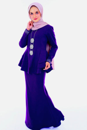 Peplum Mona Dark Purple