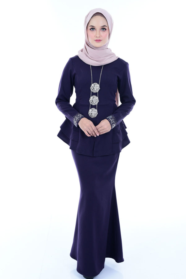 Peplum Mona Dark Purple