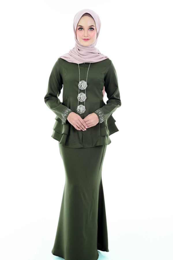 Peplum Mona Olive Green