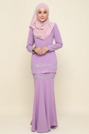 Kurung Mutyara Lavender Purple