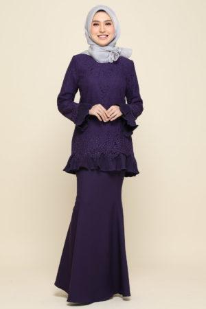 Kurung Nayra Dark Purple