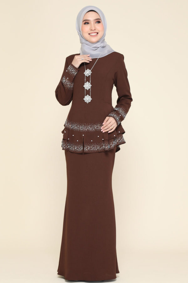 Peplum Safiera Dark Brown