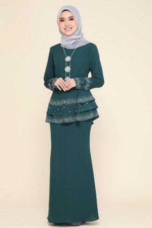 Peplum Safiera Emerald Green
