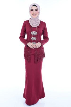 Kebaya Syasya Maroon