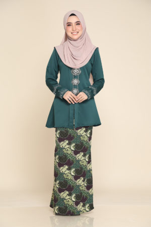 Kebaya Aisha Emerald Green