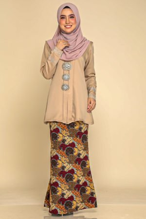 Kebaya Aisha Nude / Soft Brown