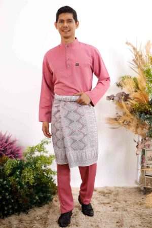 Baju Melayu Sakura Dusty Pink