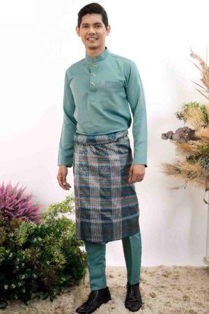 Baju Melayu Sakura Pine Green
