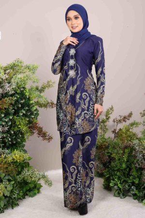Kebaya Batik Bali Navy Blue