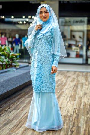 Kurung Deena Baby Blue