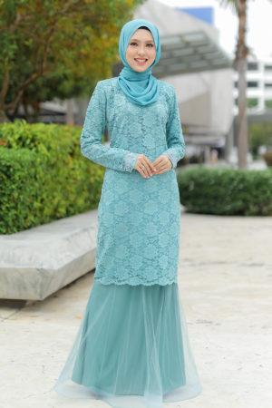 Kurung Deena Pine Green