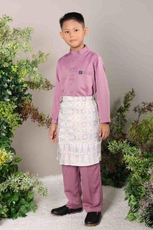 Baju Melayu Kids Dusty Purple