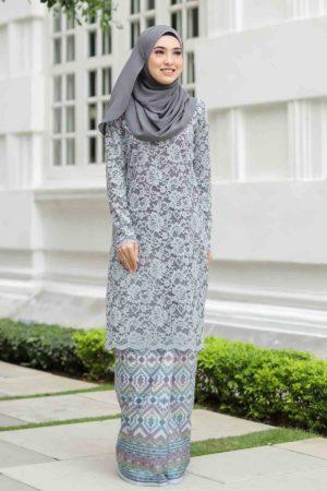 Kurung Batik Aqeela Grey