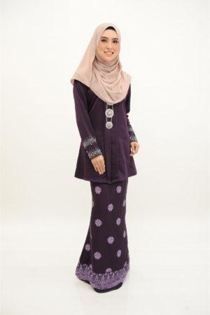 Kebaya Kain Songket Dark Purple