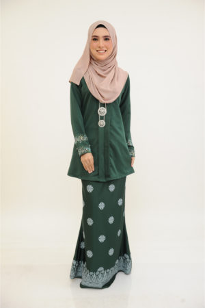 Kebaya Kain Songket Emerald Green