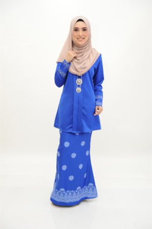 Kebaya Kain Songket Royal Blue