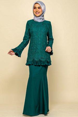 Kurung Nayra Emerald Green