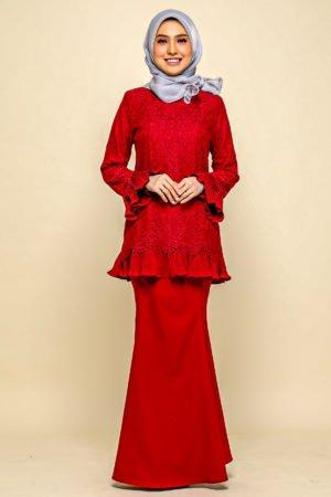 Kurung Nayra Red
