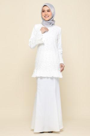 Kurung Nayra White
