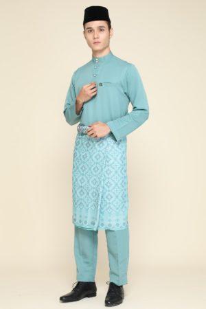 Baju Melayu Pine Green