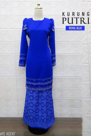 Kurung Putri Royal Blue