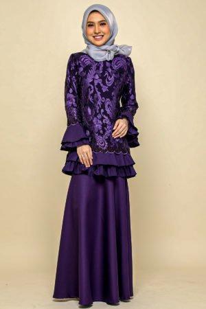 Kurung Raysha Dark Purple