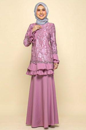 Kurung Raysha Dusty Purple