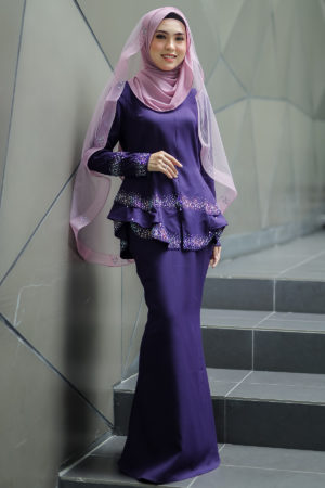 Peplum Safiera Dark Purple